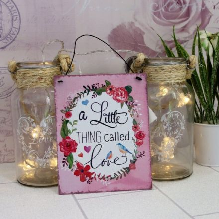 30% OFF 'A Little Thing Called LOVE' Medium Tin Plaque